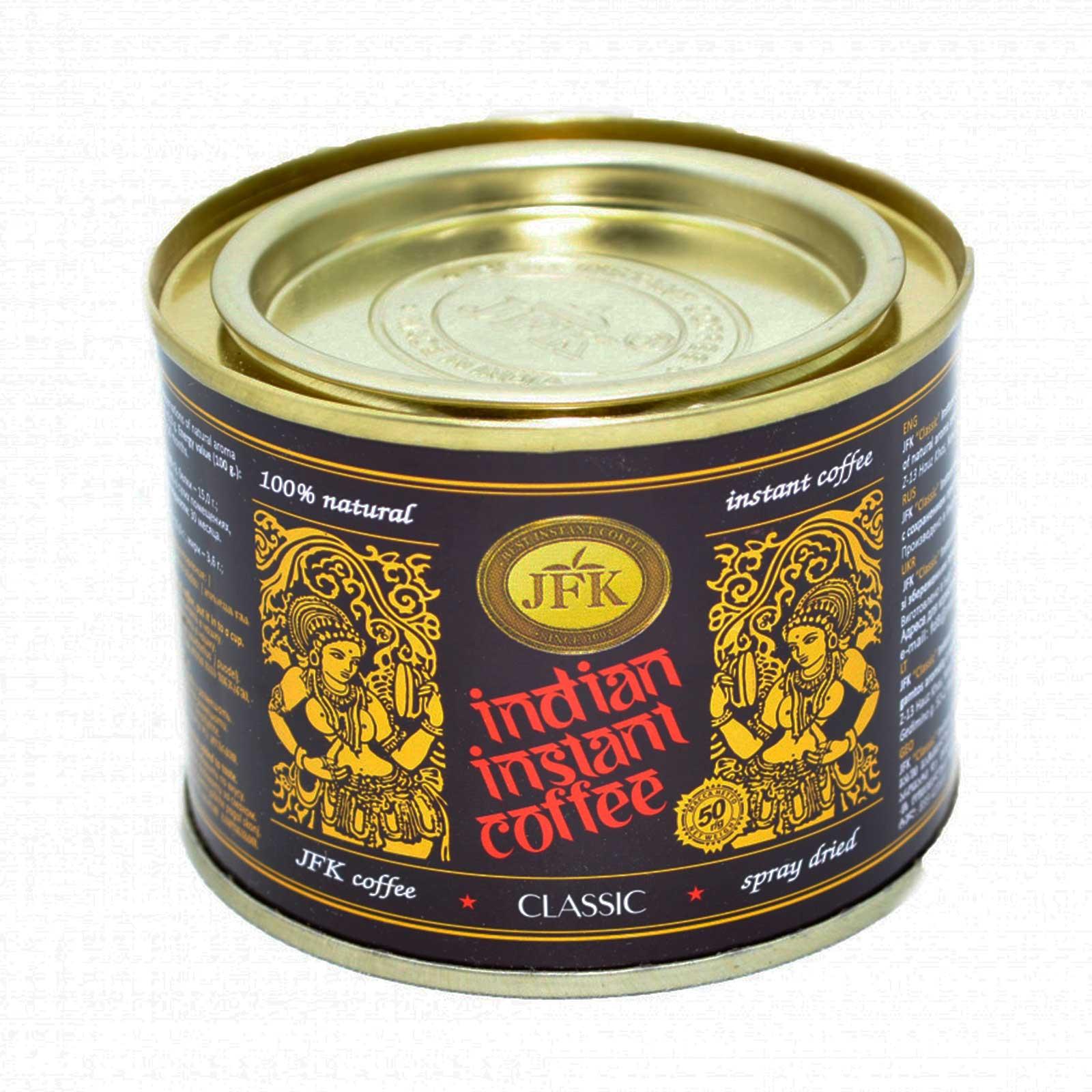 CLASSIC Indian Instant Coffee Powder, JFK (Кофе растворимый, порошкообразный, Инстант КЛАССИК ...