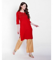 1-srishti-textured-straight-kurta-with-sequin-detailing-xl-red