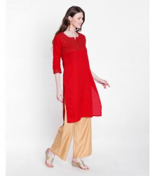 3-srishti-textured-straight-kurta-with-sequin-detailing-xl-red