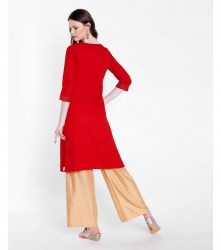 4-srishti-textured-straight-kurta-with-sequin-detailing-xl-red
