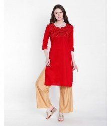 5-srishti-textured-straight-kurta-with-sequin-detailing-xl-red