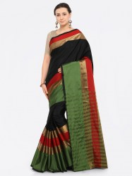 black-silk-cotton-solid-banarasi-saree-saree-mall1
