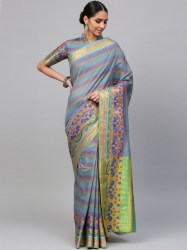 blue-purple-striped-banarasi-saree-saree-mall1