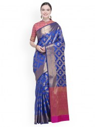 blue-woven-design-poly-silk-saree-ishin1