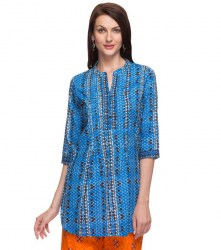 srishti-blue-printed-regular-tunic-xl-colour-blue-900