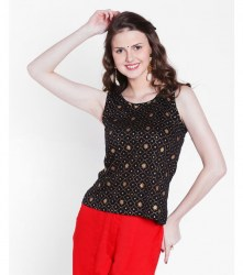 srishti-gold-print-sleeveless-top-xl-colour-black-1050