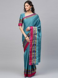 teal-blue-solid-banarasi-saree-saree-mall1