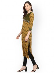 women-yellow-printed-straight-kurta-size-xl3