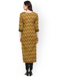 women-yellow-printed-straight-kurta-size-xl4