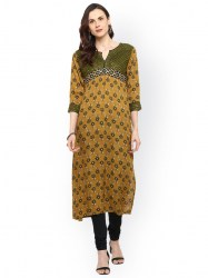women-yellow-printed-straight-kurta-size-xl